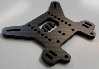 VRP 4mm Carbon Fiber Rear Tower- MBX8 (Updated)